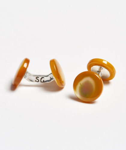 The Garnered - Amber Colour Samuel Gassmann Cufflinks The Garnered 107