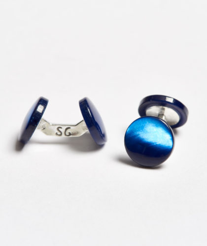 The Garnered - Blue Colour Samuel Gassmann Cufflinks The Garnered 109