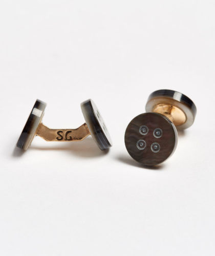 The Garnered - Evening Button Samuel Gassmann Cufflinks The Garnered 100