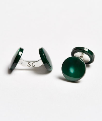 The Garnered - Green Colour Samuel Gassmann Cufflinks The Garnered 106
