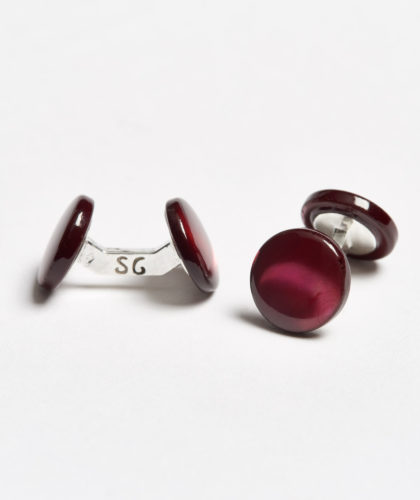 The Garnered - Red Colour Samuel Gassmann Cufflinks The Garnered 108