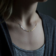 Handmade 18-24K Gold Little Rain Necklace - Sia Taylor Little Rain Necklace The Garnered Lifestyle