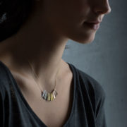 Handmade 18-24K Gold Rainbow Ray Necklace - Sia Taylor Rainbow Ray Necklace The Garnered Model