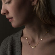 Handmade 14-24K Gold Raindrop Necklace - Sia Taylor Raindrop Necklace The Garnered Model