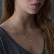 Handmade 14-24K Gold Raindrops Necklace - Sia Taylor Raindrops Necklace The Garnered Model