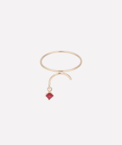 The Garnered - Arc Ring Ruby Tara 4779 Jewellery The Garnered