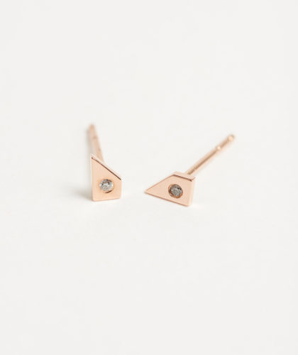 The Garnered - Rose Gold Oblique Earrings Tara 4779 Jewellery The Garnered 38