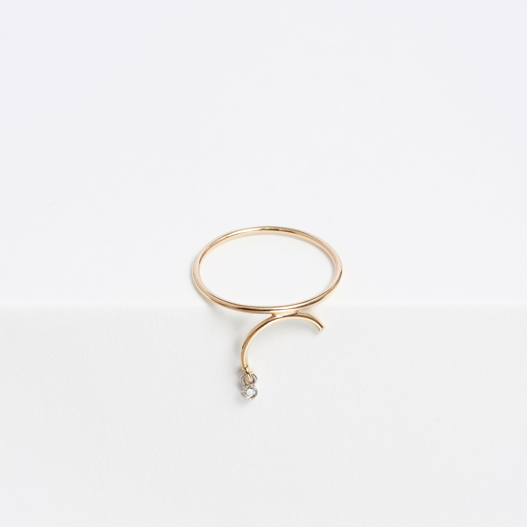 rings letter gold initial script ring
