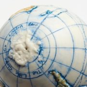 Land and Sea Ceramic Hand-Painted Globe - Small World Globe The Little Globe Co The Garnered 16