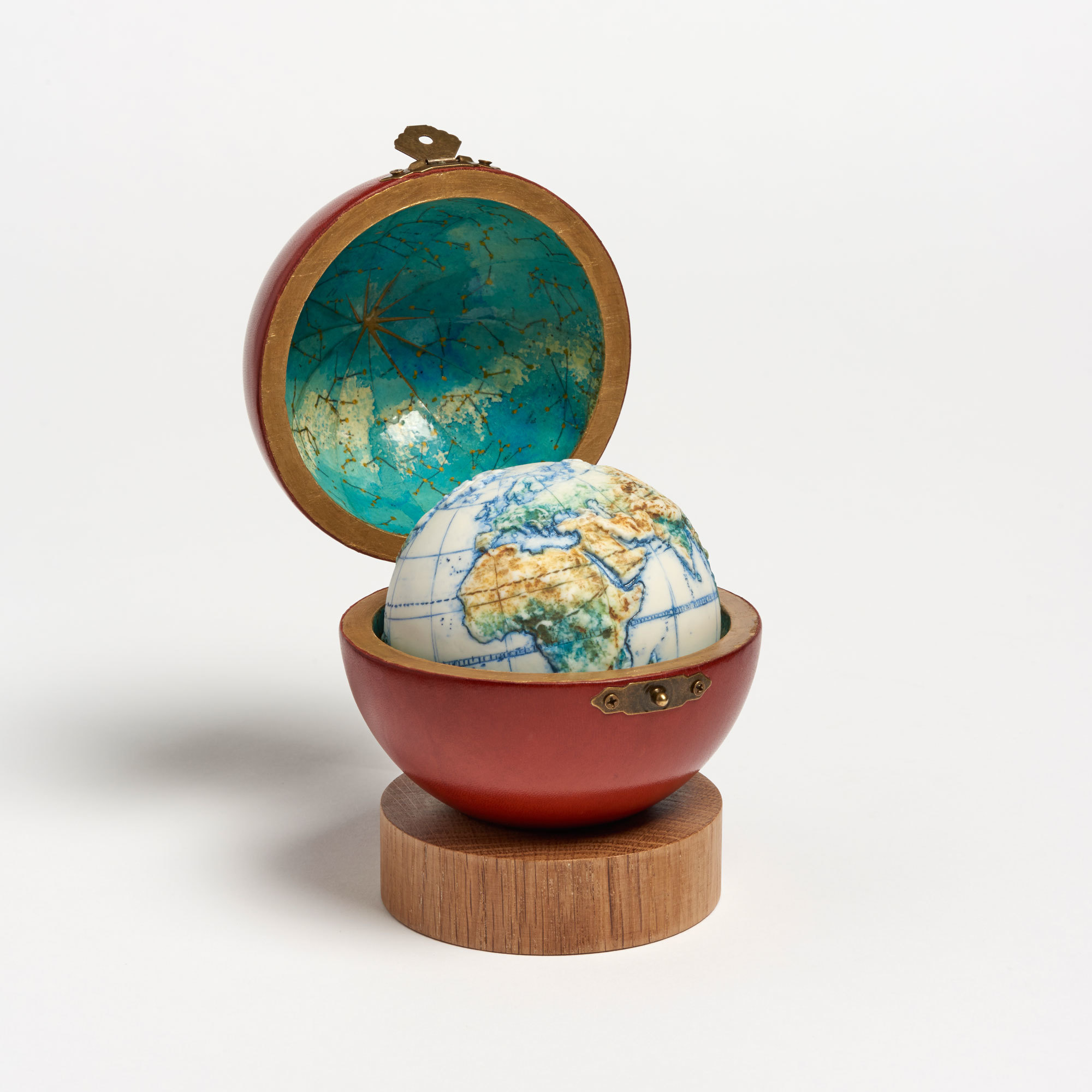 land and sea ceramic hand painted globe the garnered