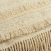 Large Irish Mohair Cream Blanket with Metallic Bouclé Thread - Cream Blanket The Tweed Project Textiles The Garnered 4