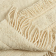 Large Irish Mohair Cream Blanket with Metallic Bouclé Thread - Cream Blanket The Tweed Project Textiles The Garnered 5