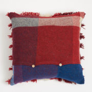 Large Colourful Handmade Tasselled Cushion - Cushion The Tweed Project Textiles The Garnered Back