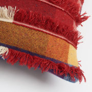 Large Colourful Handmade Tasselled Cushion - Cushion The Tweed Project Textiles The Garnered Detail
