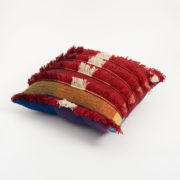 Large Colourful Handmade Tasselled Cushion - Cushion The Tweed Project Textiles The Garnered Side