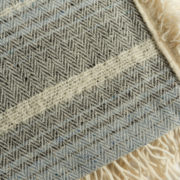 Blue & Grey Irish Mohair Shawl - Mohair Shawl The Tweed Project Textiles The Garnered 10
