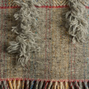 Large Grey Handmade Tasselled Blanket - Tassled Blanket The Tweed Project Textiles The Garnered 7
