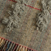 Large Grey Handmade Tasselled Blanket - Tassled Blanket The Tweed Project Textiles The Garnered 8