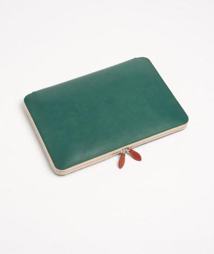 The Garnered - Agave Laptop Portfolio Tinct Leather The Garnered 8