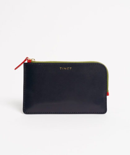 The Garnered - Navy Corner Zip Wallet Tinct Leather The Garnered 25