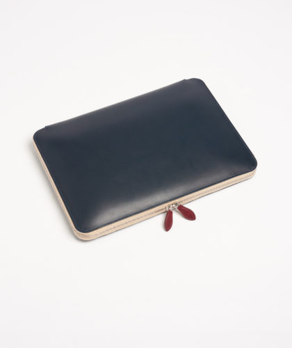 The Garnered - Navy Laptop Portfolio Tinct Leather The Garnered 4