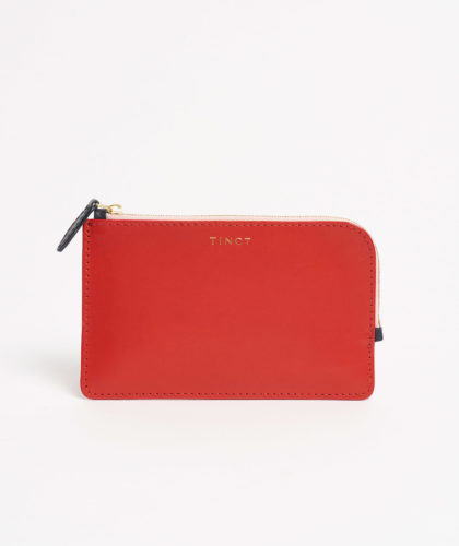 The Garnered - Red Corner Zip Wallet Tinct Leather The Garnered 17