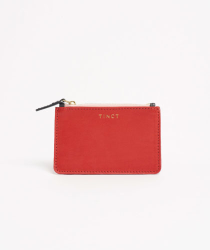 The Garnered - Red Little Wallet Tinct Leather The Garnered 33