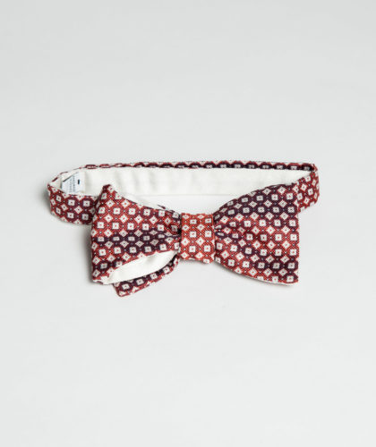 The Garnered - Red White Pattern Bowtie Maison F The Garnered 001