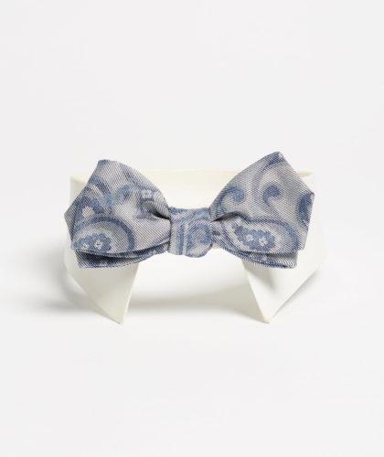 The Garnered - Pale Blue Grey Bowtie Maison F Ties The Garnered 3