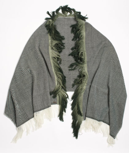 The Garnered - Lenzing Melt Scarves Black White Wool Twill Shawl Thegarnered 9