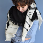 Tashi Patch Hand-Woven Wool Scarf - Melt Scarves Tashi Patch The Garnered Styled 2