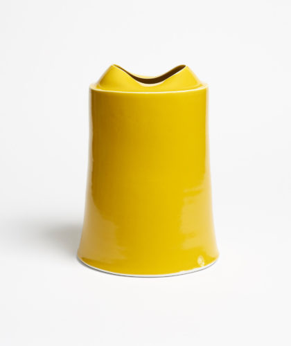 The Garnered - Yellow Tall Vessel Small Medium Tanya Gomez Ceramics The Garnered 41