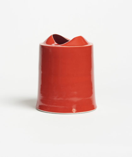The Garnered - Red Small Tall Vessel Tanya Gomez Ceramics The Garnered 6