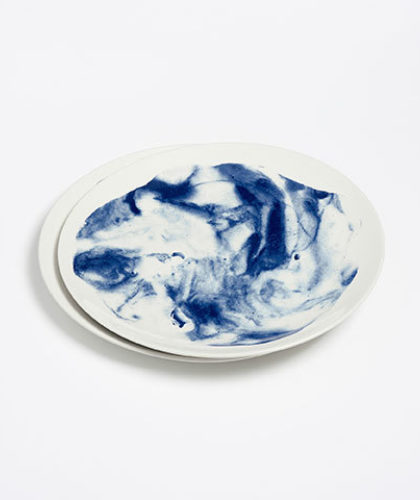 The Garnered - 1882 Indigo Storm Ceramics The Garnered Dinner Plate 2 Thumbnail