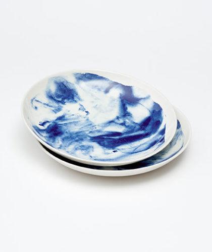 The Garnered - 1882 Indigo Storm Ceramics The Garnered Pasta Bowls 2 Thumbnail