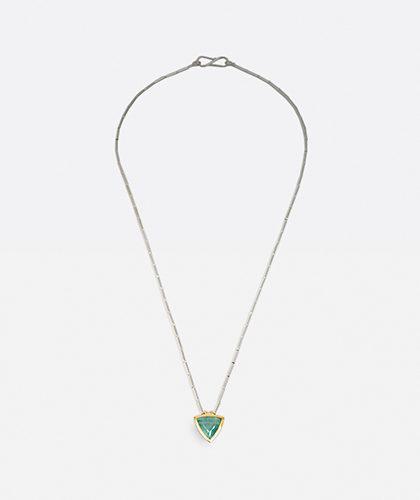 The Garnered - Abby Mosseri Aqua Tube Necklace Thumbnail