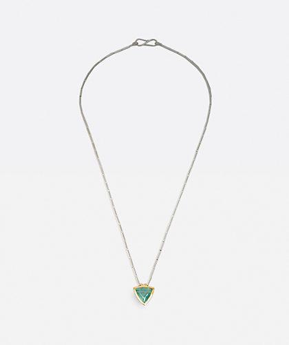 The Garnered - Abby Mosseri Aqua Tube Necklace Thumbnail
