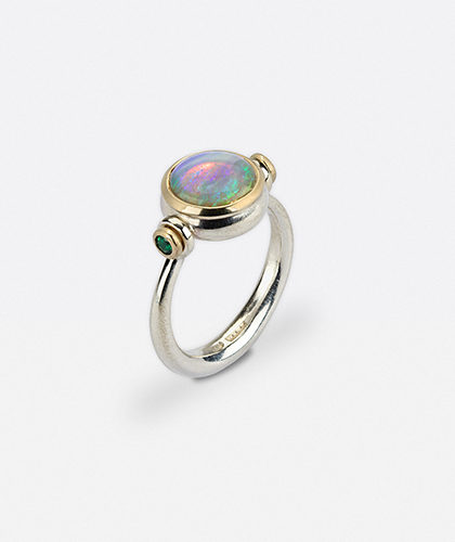 The Garnered - Abby Mosseri Opal Emerald Ring The Garnered Thumbnail