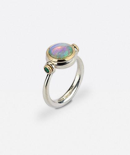 The Garnered - Abby Mosseri Opal Emerald Ring The Garnered Thumbnail