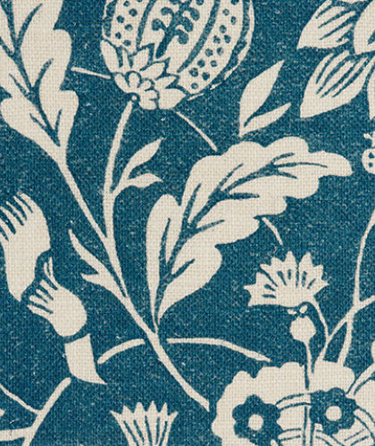 The Garnered - Antoinette Poisson Fabric Indienne Bleu The Garnered Thumbnail