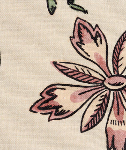 The Garnered - Antoinette Poisson Fabric Pink Flower The Garnered Thumbnail