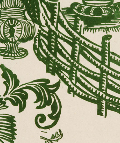 The Garnered - Antoinette Poisson Wallpaper Jardin Vert The Garnered Thumbnail
