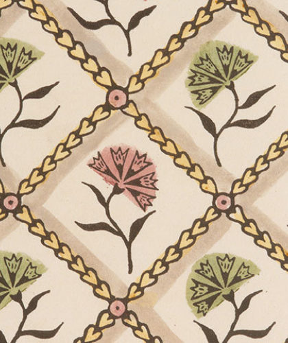 The Garnered - Antoinette Poisson Wallpaper Oeillets Colour The Garnered Thumbnail