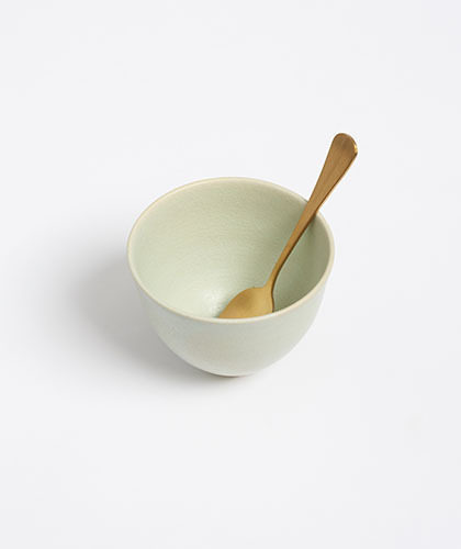 The Garnered - Arielle De Gasquet Handmade Pale Celadon Tea Bowl The Garnered Thumb