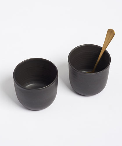 The Garnered - Arielle De Gasquet Matte Black Tea Beakers The Garnered Thumb