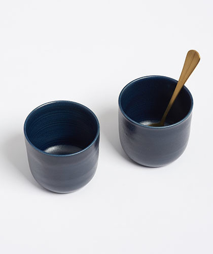 The Garnered - Arielle De Gasquet Midnight Blue Handmade Cups The Garnered Thumb