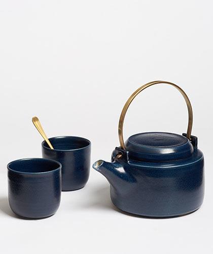 The Garnered - Arielle De Gasquet Midnight Blue Teapot Set The Garnered Thumb