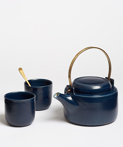 The Garnered - Arielle De Gasquet Midnight Blue Teapot Set The Garnered Thumb