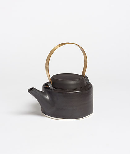 The Garnered - Arielle De Gasquet Small Matte Black Teapot The Garnered Thumb