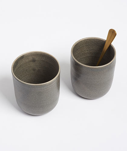 The Garnered - Arielle De Gasquet Tall Dark Grey Handmade Beakers The Garnered Thumb